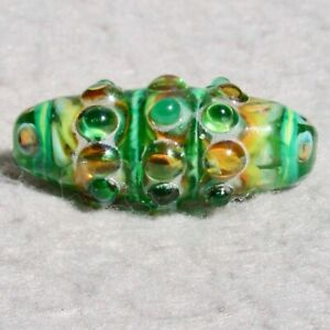 VAL-VERDE-Handmade-Art-Glass-Focal-Bead-Flaming-Fools-Lampwork-Art-Glass-SRA