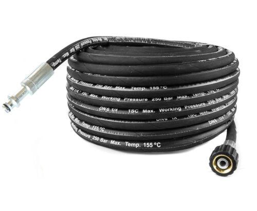 15m Hochdruckschlauch 10mm Nippel DN6 250 BAR für KARCHER HD M22x1,5 GEWINDE
