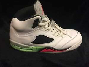 Nike-Air-Jordan-5-Retro-White-Infrared-23-Men-s-Size-10-5-RIGHT-SHOE-ONLY