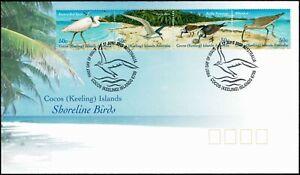 2003-COCOS-KEELING-ISLANDS-Shoreline-Birds-Strip-4-FDC
