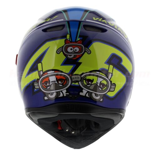 Shark Fish Pinlock Included AGV K3 SV Misano 2015 Rossi Fast /'N Free Shipping