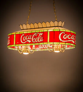 Coca Cola Stained Glass Lamp.Details About Coca Cola Stain Glass Billiards Light Coke Stained Glass Ceiling Pendant 32