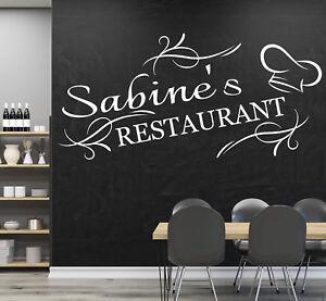Details zu Wandtattoo Küche Wandtatoo Kochen Esszimmer Spruch Restaurant  mit Namen pkm86na