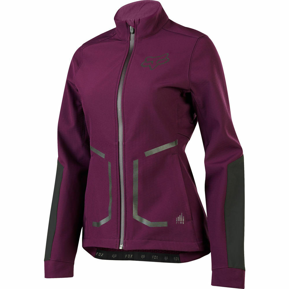 FOX RACING donna'S ATTACK FIRE SOFTSHELL ciclismo JACKET PLUM MEDIUM 20186209M