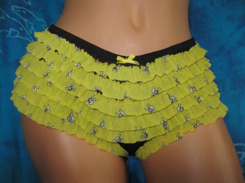 nwt Honeydew Black /& Yellow Goth Punk skull Rumba Cheeky Boyshorts Panties M