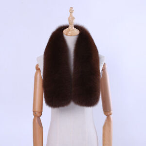 Winter-Real-Fox-Fur-Collar-Natural-Fur-Collar-Scarf-Wraps-Neck-Warmers-Scarves