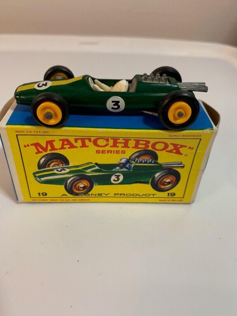 Matchbox 19d Lotus Racing Car Green