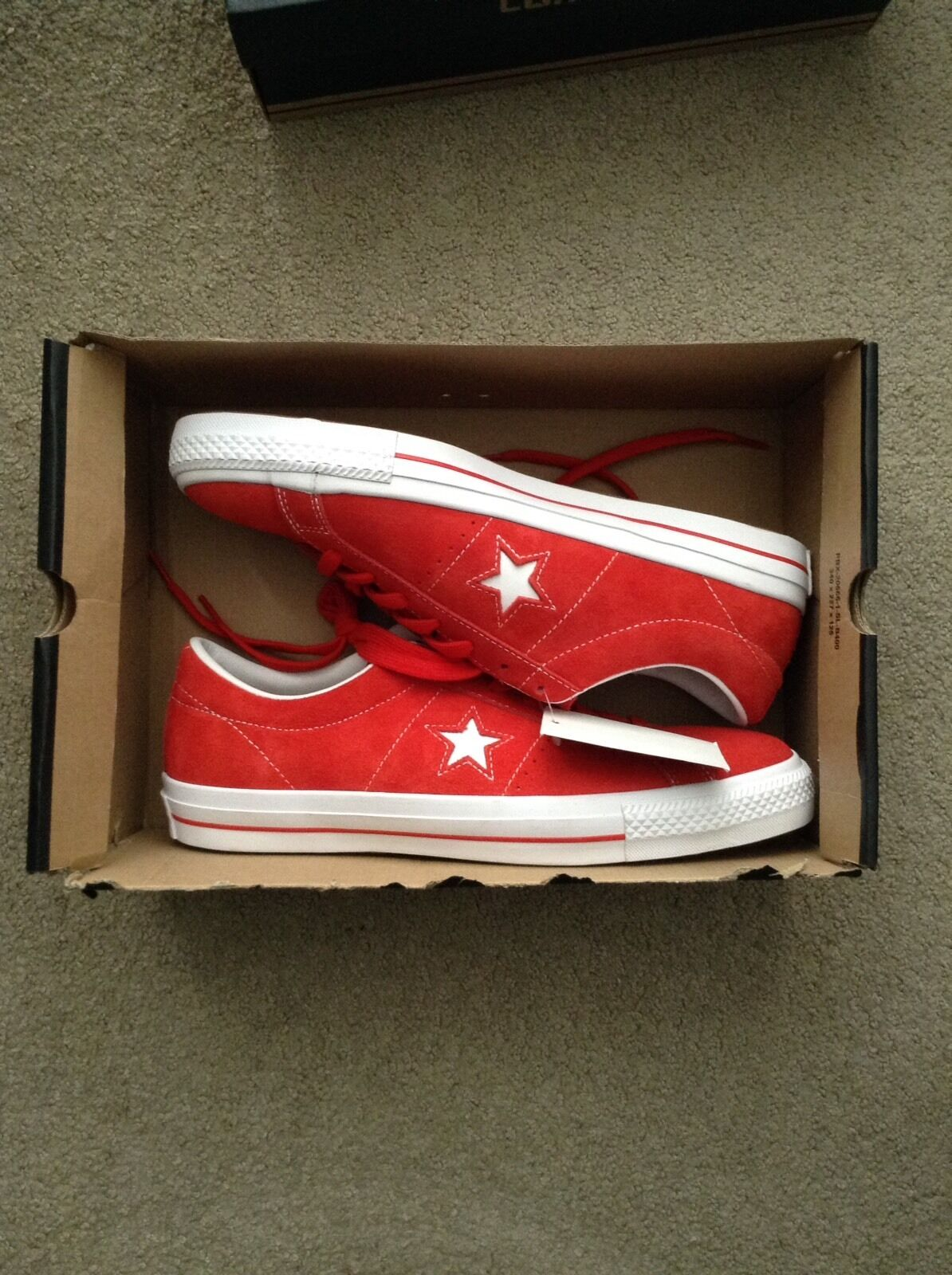 NEW Converse Cons One Star Red Suede OX Lunarlon size 11.5