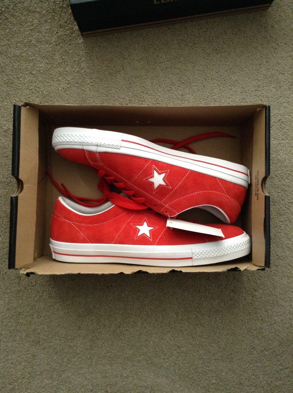 NEW Converse Cons One Star Red Suede OX Lunarlon size 11.5 Scarpe classiche da uomo