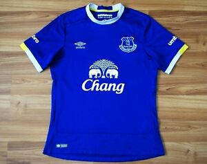 official photos 88fce f0932 Details about 2016/2017 EVERTON FC HOME FOOTBALL SHIRT JERSEY UMBRO MEN'S  SIZE SMALL BLUE