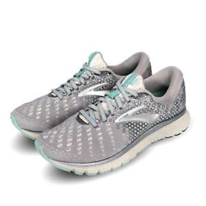 657500643c8 Brooks Glycerin 17 Grey Aqua Ebony Women Running Shoes Sneakers ...