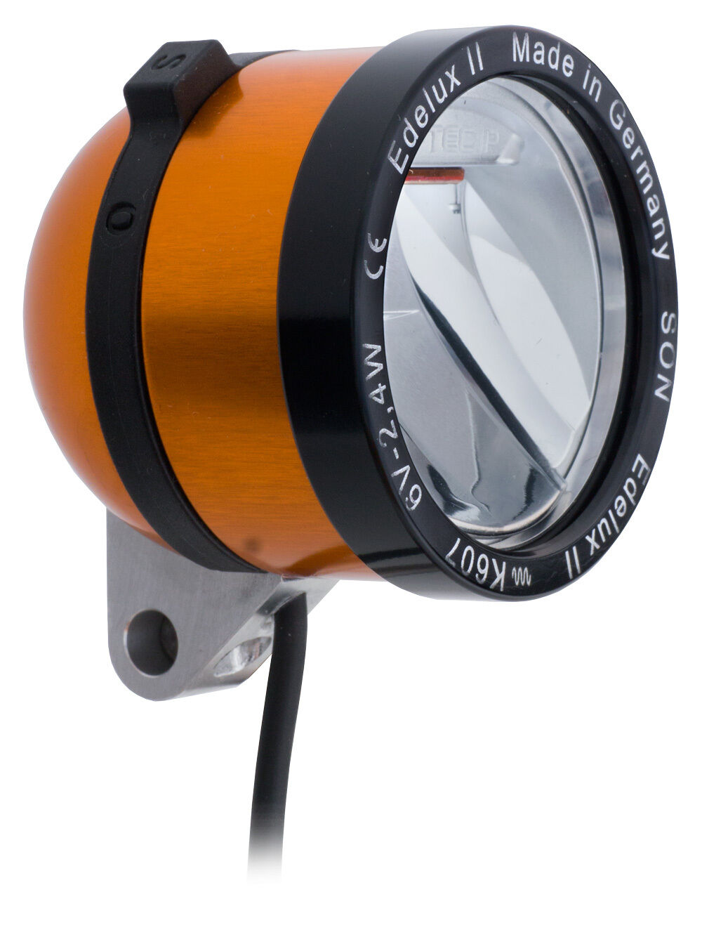 Novelty LED Headlight Son Edelux II Orange with 140 cm Cabel Loose Connections