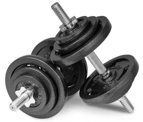40kg Gusseisen Kurzhanteln Hantel Set Hanteln Gewichte Hantelscheiben 2x20