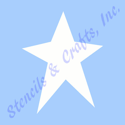 "13 1/2"" PRIMITIVE BIG STAR STENCIL CELESTIAL STARS PAINT ART TEMPLATE CRAFT NEW"