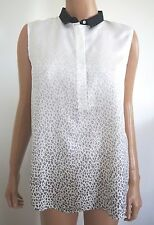 $325 BAND OF OUTSIDERS LEOPARD Print 100% SILK Sleeveless Blouse Top 1/S