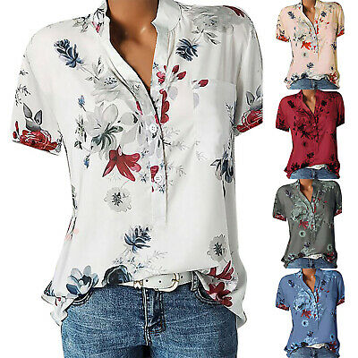 Womens Summer Clothes Plus Size Fashion Graphic Short Sleeve Pullovers T-Shirt Blouses Tops by Sopzxclim