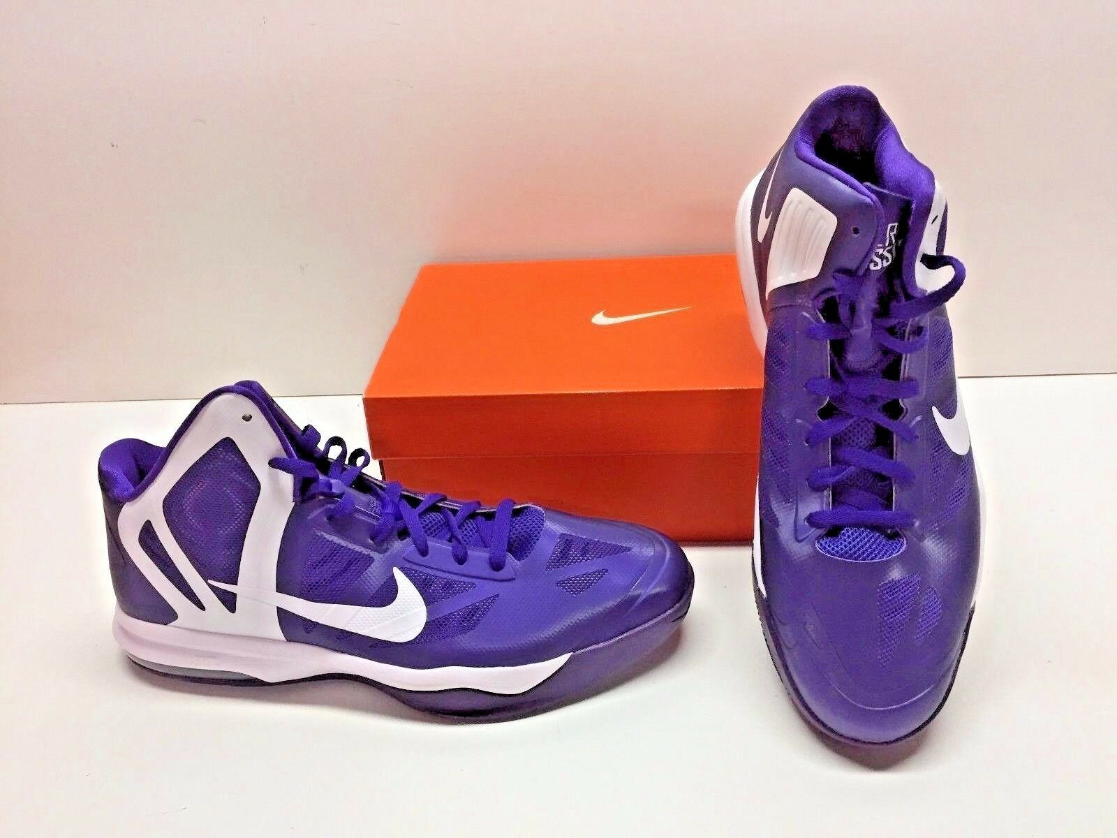 Nike Air Max HyperAggressor TB Basketball Purple Athletic Sneakers Shoes Mens 12
