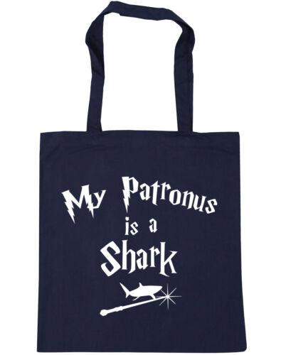 My Patronus Is A Shark Tote Shopping Gym Beach Bag 42cm x38cm 10 litres