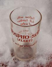 Early PHOSPHO SODA enameled Soda Fountain Dose Glass FANCY BEVELED  (Fleet)