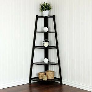 5 Tier Corner Ladder Garden Shelf Curio Display Rack Stand