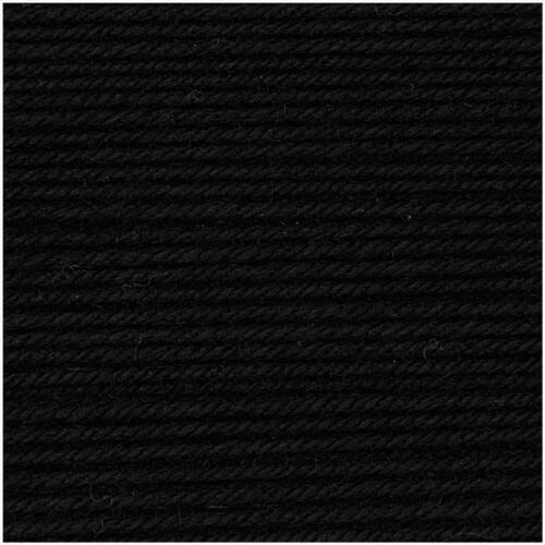 120m Rico Design Wolle Essentials Merino dk extrafine 90 Schwarz 50g