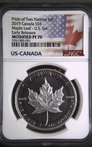 2019-5-Canadian-Silver-Maple-Leaf-NGC-Modified-PF70-Pride-of-Two-Nations-ER