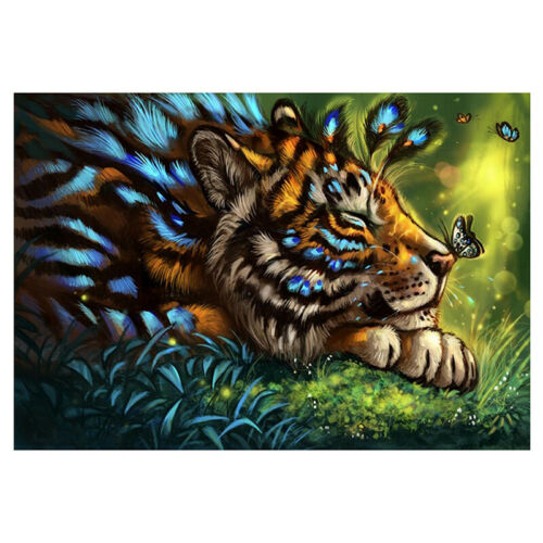 Full Drill Lion Tiger 5D Diamond Painting DIY Cross Stitch Home Decor Art 2020