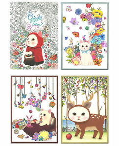 Image Is Loading Cute Kitty Cat Coloring Book Colorful JETOY