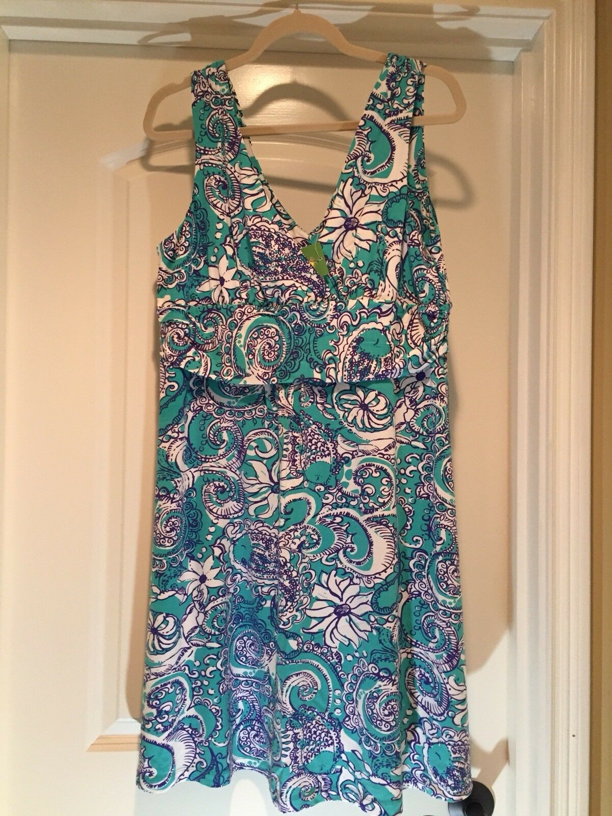 Lilly Pulitzer Seafoam Grün Montauk Shianne Dress XL
