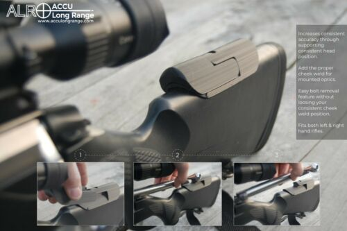 16mm Rifle stock Cheek Rest riser v2 /& easy bolt remove feature fits Tikka 3DP
