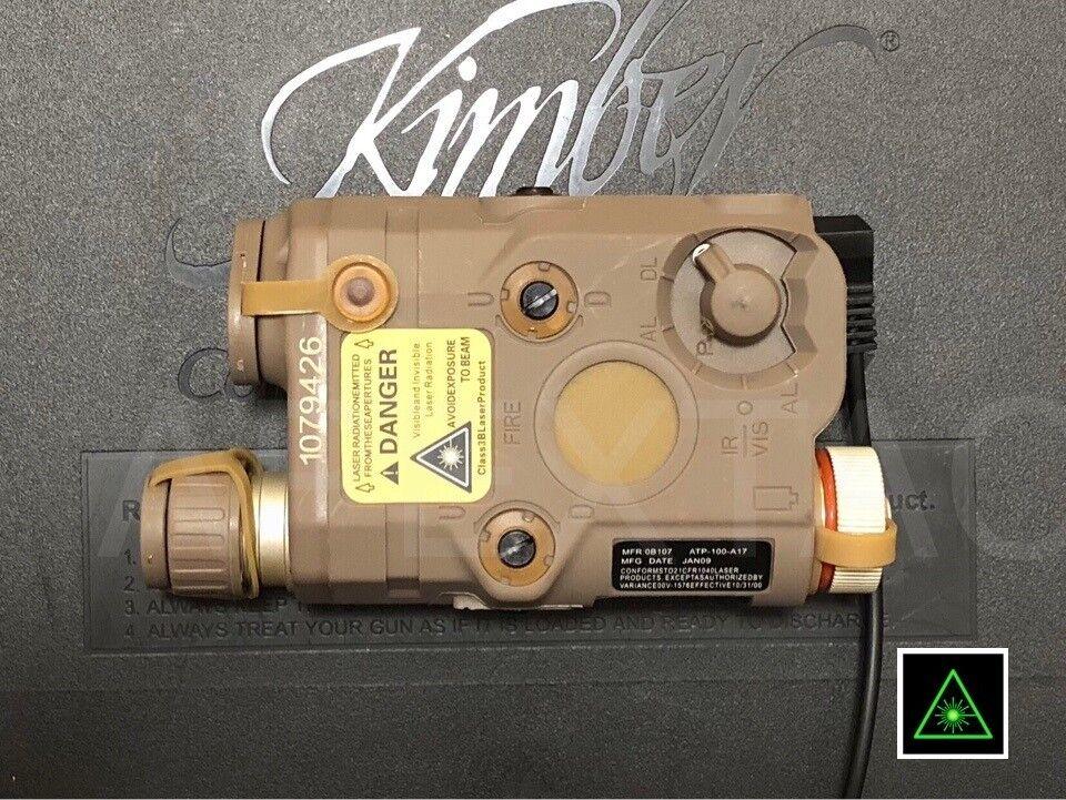 FMA DEVGRU PEQ 15 Style LED Flashlight + Green IR Laser Aimming Module - FDE