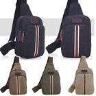 Men's Small Canvas Military Messenger Shoulder Travel Hiking Fanny Bag Backpack