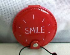 """#CS-HJ ENGLAND WILD & WOLF HAPPY JACKSON- NWT """"SMILE"""" RED 2 SIDED COMPACT MIRROR"""
