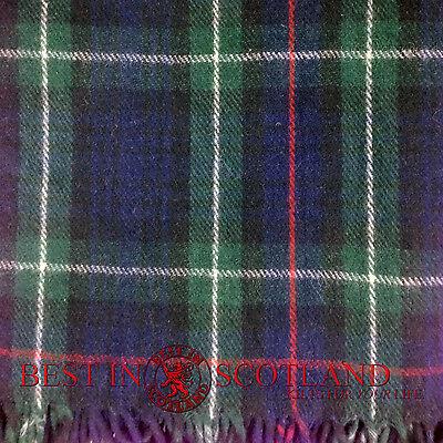 100% WOOL Throw Rug Blanket Highland Tartan Tweeds Wool. Thick, MADE IN SCOTLAND