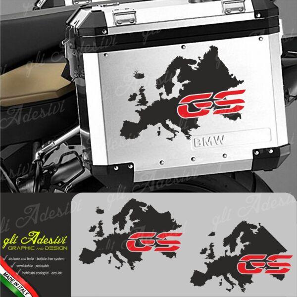 2 Adesivi Stickers decals compatibili per codino moto BMW R 1200 RS COLORE ROSSO