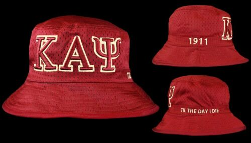 or Kappa Alpha Psi CRIMSON Bucket Hat S//M 7 1//8 to 7 3//8 L//XL 7 1//2 to 7 3//4