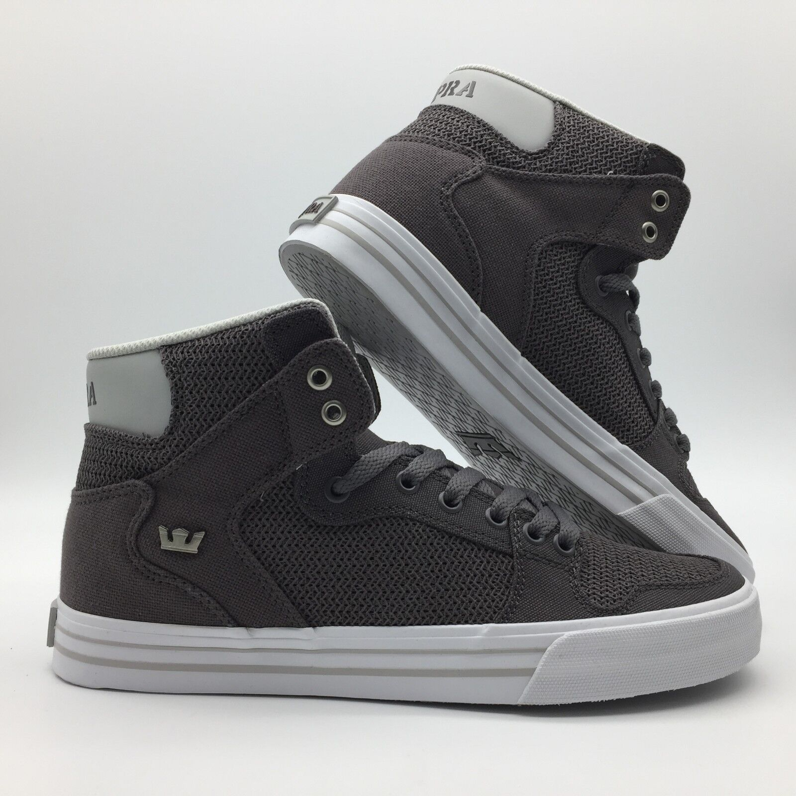 Zapatos para Hombre Supra Vaider blancoooo Carbón Vegetal ()