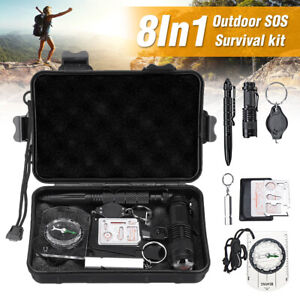 SOS Help Outdoor Sports Camping Hiking Survival Emergency Gear Tool Bo /m