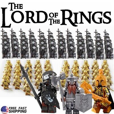 21pcs Elf Orc Gondor Warrior Military Army Soldier Figure for Lego Minifigures
