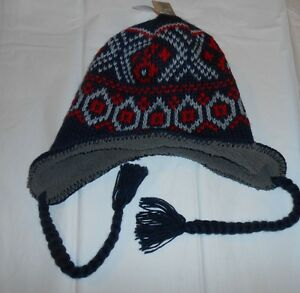 d103a8ef373 Outdoor Life Mens Sherpa Lined Knit Winter Hat Black Gray   Red One ...