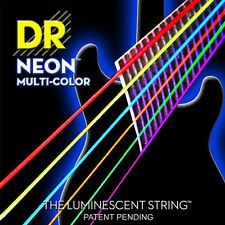 DR NMCA-10 Neon Multi-Color Acoustic Guitar Strings 10-48 multi color