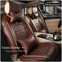 Dark Brown Business Leather Car Seat Cover Jeep Cherokee Compass Grand Cherokee