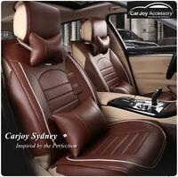 Dark Brown Leather Car Seat Cover Volkswagen Passat Polo Jetta Golf Tiguan Gti