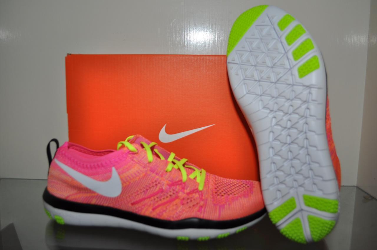 Nike Free TR Focus FK OC Womens Running Shoes 843987 999 Pink-Multi Color NIB