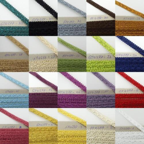 CLEARANCE 22 COLOUR 13mm Scroll Braid Edging Trim Costume Lampshade BUY 1 2 4m