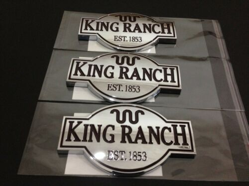 3 KING RANCH EMBLEMS F150 F250 F350 F450 DOOR TAILGATE NAMEPLATE BADGE