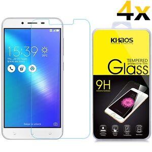 4x KHAOS For Asus Zenfone 3 Laser 5.5 ZC553KL HD Tempered Glass Screen Protector