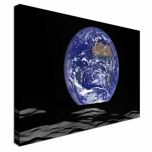 Earth-rise-Canvas-Wall-Art-Picture-Print