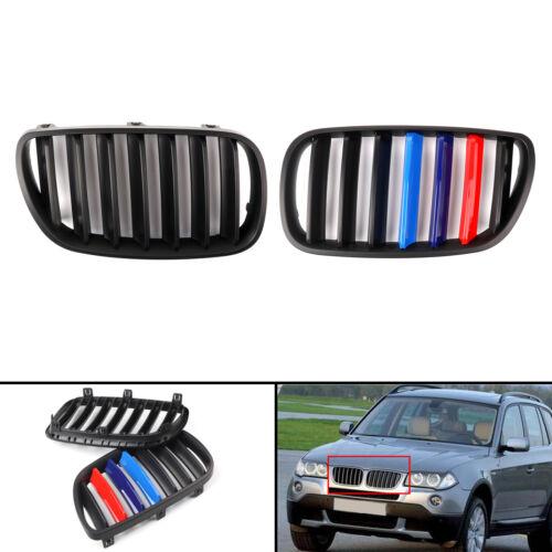 Matte Black Front Bumper Grille Fit For BMW E83 X3 LCI 2007-10 Facelift Mcolor