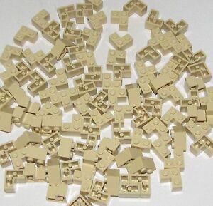 Lego Lot of 100 New Tan Bricks 2 x 2 Corner Building Blocks Pieces Parts